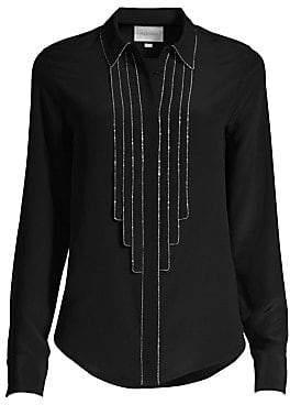 Alexis Women's Amika Embellished Silk Blouse