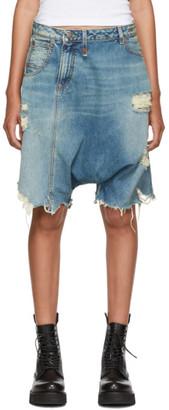 R 13 Blue Twister Shorts