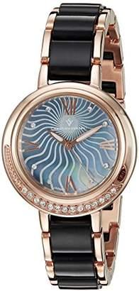 MOP Christian Van Sant Women's CV7614 Analog Display Quartz Two Tone Watch