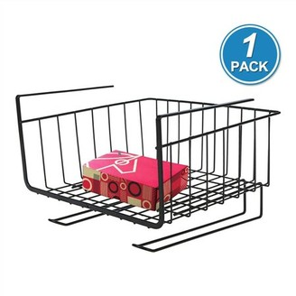 Pk Power Kitchen Storage Bin under Shelf Wire Rack Cabinet Basket Organizer Holder Stand-Black