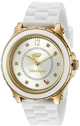 Juicy Couture Women's 'Hollywood' Quartz Resin and Silicone Casual Watch, Color:White (Model: 1901416) $180.05 thestylecure.com