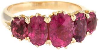 One Kings Lane Vintage Fuchsia Pink Tourmaline Anniversary Band - Precious & Rare Pieces
