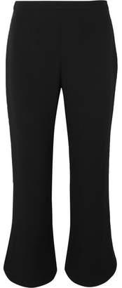 Prada Cropped Crepe Bootcut Pants - Black
