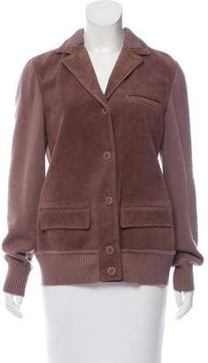 Bottega Veneta Suede Knit-Paneled Jacket