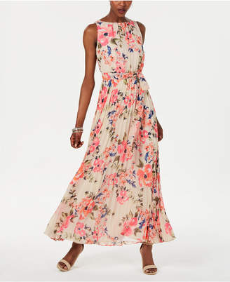 Jessica Howard Petite Floral Pleated Maxi Dress