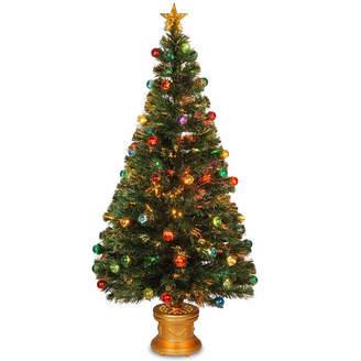 NATIONAL TREE CO National Tree Co. 5 Foot Fiber Optic Evergreen Pre-Lit Christmas Tree