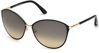 Tom Ford Women's Gradient Penelope FT0320-28B- Black Round Sunglasses