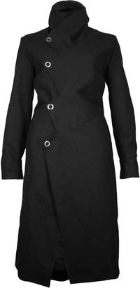 Format MONT Black Moleskin Coat - S - Black