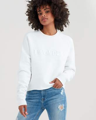 7 For All Mankind I Wonder Sweatshirt in Optic White