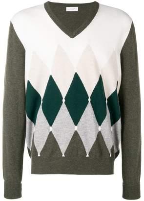 Ballantyne diamond instarsia sweater