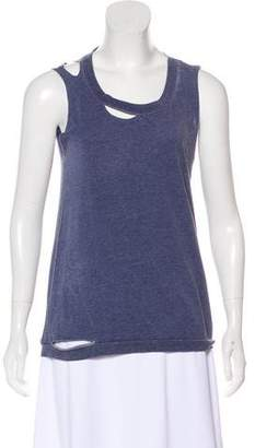 Chaser Distressed Sleeveless Top