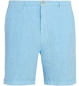 120% Lino Slim Fit Linen Shorts - Mens - Blue