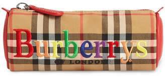 Burberry Embroidered Archive Logo Vintage Check Pencil Case