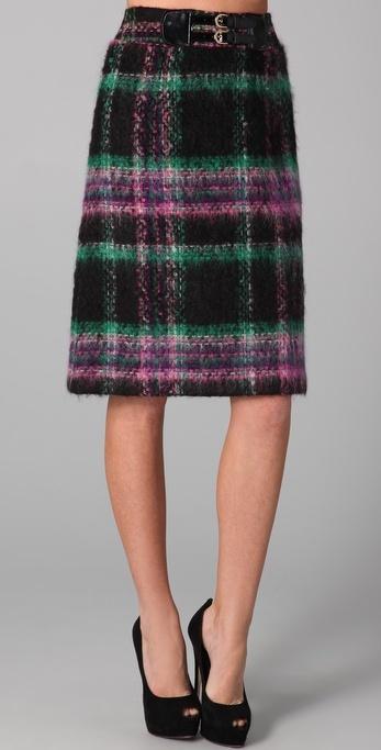 Milly Suzie Plaid Skirt