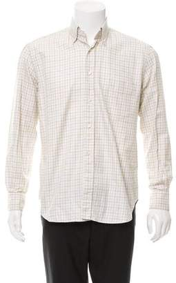 Loro Piana Plaid Button-Up Shirt