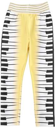 Raspberry Plum PIANO PRINT LYCRA LEGGINGS
