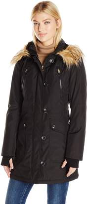 Jessica Simpson Women's Fuax Fur Hooded Parka