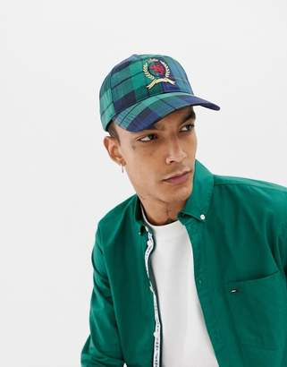 2631b0b7 Tommy Jeans 6.0 Limited Capsule baseball cap with crest logo in plaid check