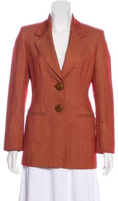Gianfranco Ferre Herringbone Wool Blazer