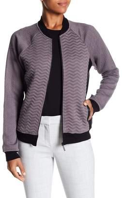 Tart Aiden Front Zip Faux Leather Trim Jacket