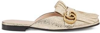Gucci Marmont metallic laminate leather slipper