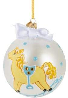 Lord & Taylor Babys First Christmas Print Ball Ornament