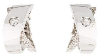 Chopard 18K Happy Diamonds Crossover Earclips