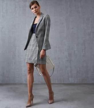Reiss Joss Skirt Checked Tailored Pencil Skirt