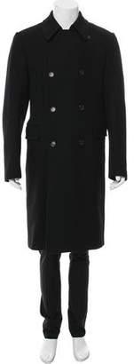 Prada Double-Breasted Wool Overcoat