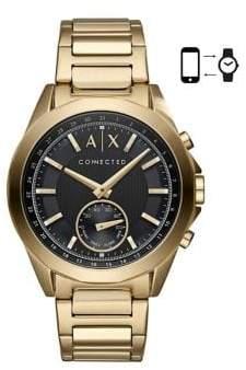 Armani Exchange Hybrid Smartwatch Drexler Goldtone Stainless Steel Link Bracelet