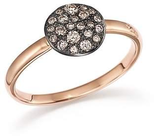 Pomellato Sabbia Ring with Diamonds in Burnished 18K Rose Gold