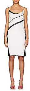 Narciso Rodriguez Women's Sequin-Striped Silk Cocktail Dress-White, black