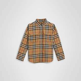 Burberry Childrens Vintage Check Cotton Shirt