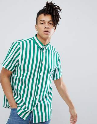 Weekday louis short sleeve striped shirt