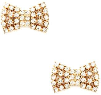 Kate Spade new york Sparkling Bow Stud Earrings - Clear / Gold