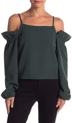 Romeo & Juliet Couture Cold Shoulder Ruffle Blouse