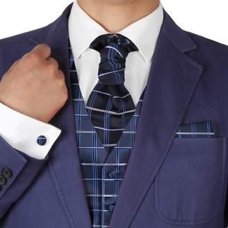 VS2023-3XL Red Polka Dots Luxury Gift Vests Cufflinks Hanky Ascot Tie By Y&G