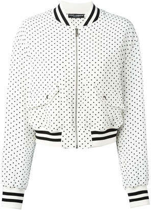Dolce & Gabbana polka dot bomber jacket