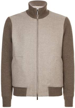 Corneliani Cashmere Contrast Sleeves Jacket