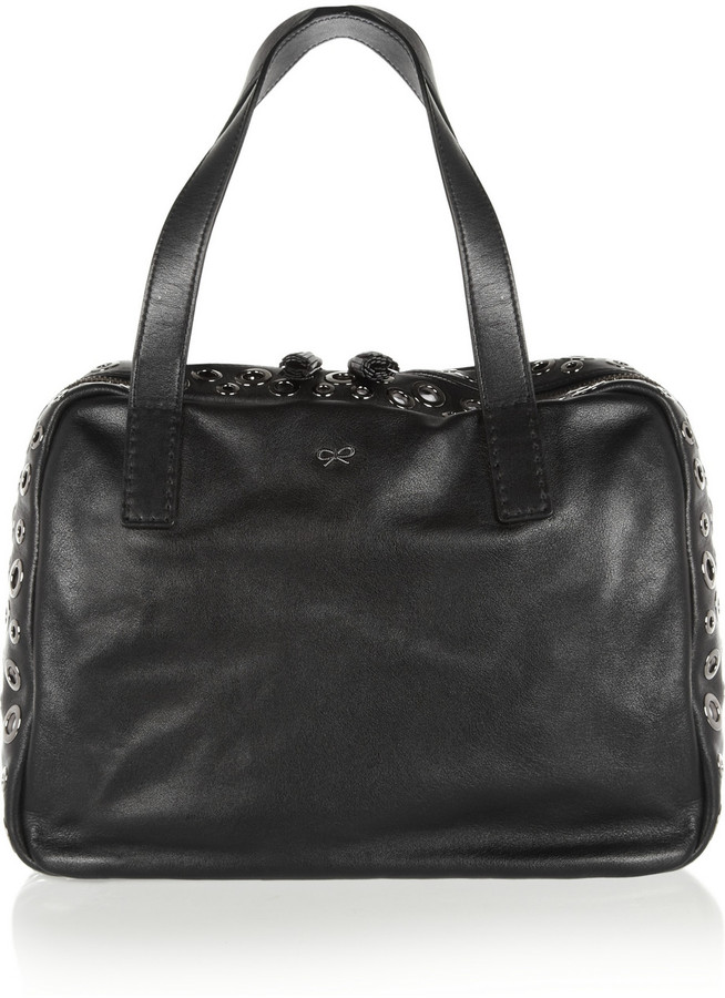 Anya Hindmarch Peephole leather tote