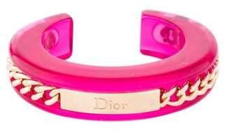 Christian Dior Logo Chain & Lucite Cuff