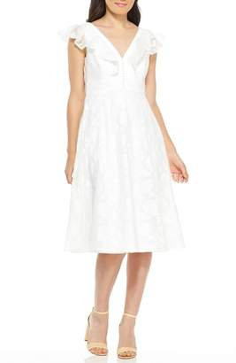 Gal Meets Glam Susie Floral Organza Fit & Flare Dress
