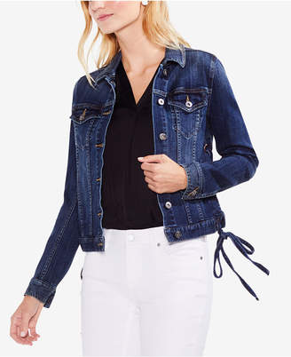 Vince Camuto Laced-Side Denim Trucker Jacket