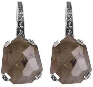 Stephen Dweck Silver Galactical Labradorite Drop Earrings