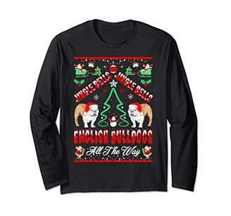 Jingle Bells English Bulldogs All The Way Christmas Tshirt