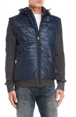 Desigual Quilted Convertible Sweater Jacket