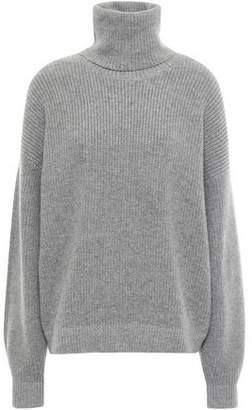 Tory Burch Ribbed Wool And Cashmere-blend Turtleneck Sweater