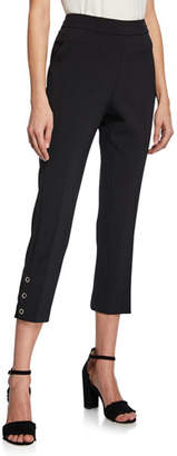 Kate Spade Side Snap Cropped Straight-Leg Pants