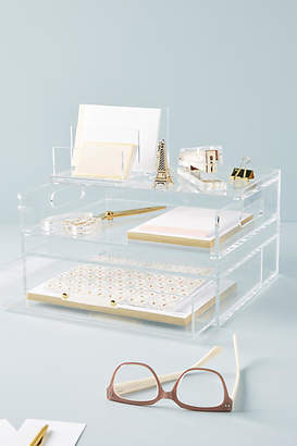 Russell + Hazel Russell+Hazel Acrylic Bloc Collection Desk Storage