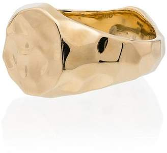 Laud yellow gold signet ring
